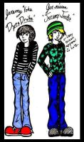 My Brothers as Cartoons by kittykinetic