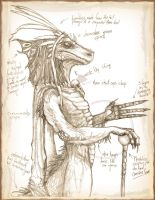 Saurian Royal naturalist page by Psychicbard