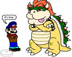 Bowser not afraid of anything by Donutman08
