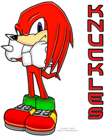 Knuckles The Echidna by faithandfreedom