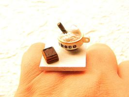 Hot Chocolate Whip Cream Ring by souzoucreations