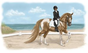 Giselle - YH Beach Show - Beg. Dressage by MistyofSunrise