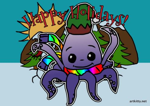 Lil Inky Happy Holidays by lorikitty