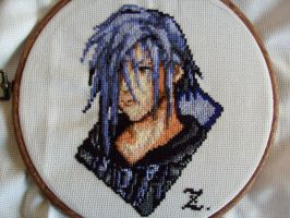 Zexion cross stitch by Nayru25