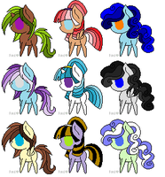 MLP adoptables -1 point each! OPEN- by Equinoxthealicorn