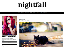 Nightfall Blogger Template by candypow