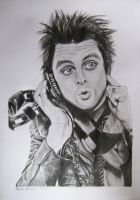 Billie Joe Armstrong with headphones by novacaineGD
