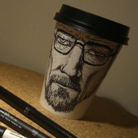 Breaking Bad Heisenberg Coffee Sketch by adamrobertsdesigns