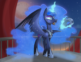When the night falls by MyMineAwesome