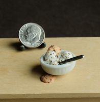 1:12 Scale Cookie Dough Ice Cream by fairchildart