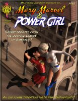 Mary Marvel and Power Girl by MsThemis