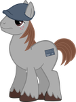 Vector of my OC Pony Winston Flats by RedmondRoshi