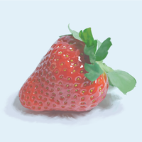 Strawberry in hiperrealism, part1 by RainOfFantasies