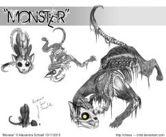 Month of ''Monster'' - Day 17 - Monster concept 09 by Chaos--Child