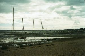 boats on the sand by Selim-mileS