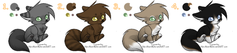 ALL GONE - Free Wolf Pup Adoptables by Lara-Wolfie