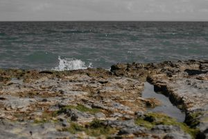 Rocky beach by airblue