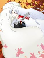 Autumn with Sesshomaru... by red-X-snow