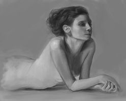 Life Drawing: hard render by Firegardensuite