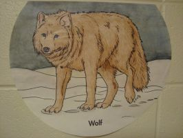 Wolf - in crayon by Lunix17