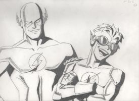 Flash & Kid Flash by DeiNyght
