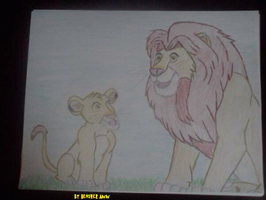 Mufasa and Simba Father's day by Heatherannpt