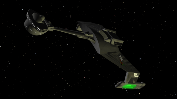 Klingon D7 Class Battlecruiser by enterprisedavid