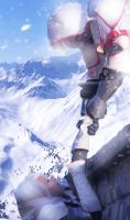 Snowy Mountains by Porno-Pink
