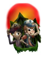 Clementine and Dipper by LordMayo