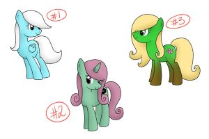 One Of Each MLP Adopts - CLOSED by BenAdoptables