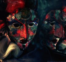 Harlequin Masque by Mon-artifice