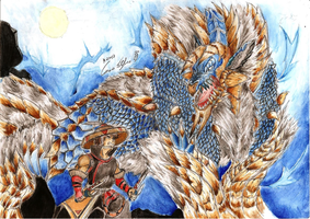 Monster Hunter 3rd Jinouga vs Yukumo by SteveShadow