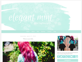 Elegant Mint Blogger Template by candypow