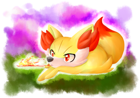 Fennekin by SkittyStrawberries