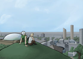 Commission- lovely city by Maiden-Chynna