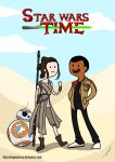 Adventures on stars - Rey and Finn by DragonsTrace