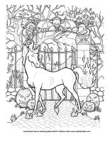 Nightmare coloring page by TabLynn