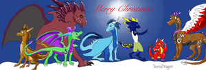 Christmas Dragons by TsuriaDragon