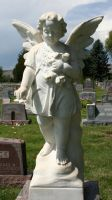 Mount Olivet Cemetery Angel 192 by Falln-Stock