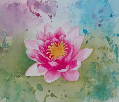 Water Lily by steel--blue