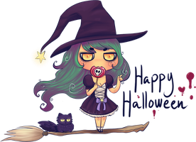 Lil' witch again by Anolee