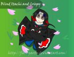 Blind Itachi and Crispy by fiori-party