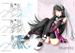 [PINK DIVA] Drawing with making of by ltkworks