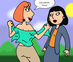 Lois Subdues Tricia commission by PariahExileWrath