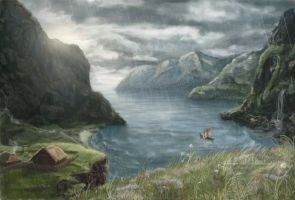 The fjord by libellchen
