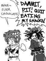 Floor snacks give health! by MorriganAnneAensland