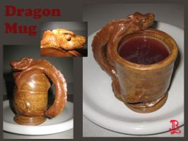 Ceramic - Dragon Mug by adnileb