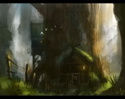 Treehouse by Pencil-guy