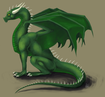Green dragon by Lenora-chan