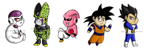 DBZ Chibi Set by Rorell